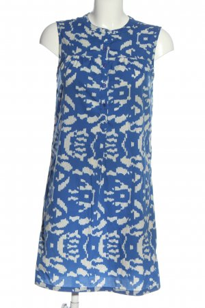 Etam Mini Abito blu-bianco stampa integrale stile casual