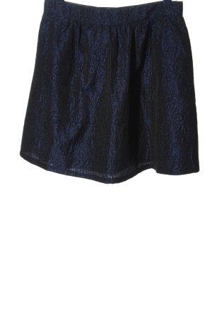 Etam Minigonna blu-nero stampa integrale stile casual