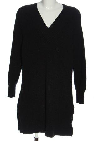 Etam Pulloverkleid schwarz Zopfmuster Casual-Look