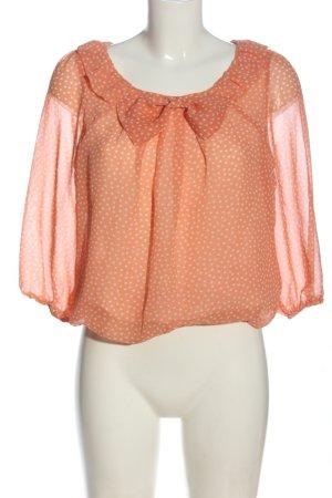 Etam Camicetta da notte arancione chiaro-bianco stampa integrale stile casual