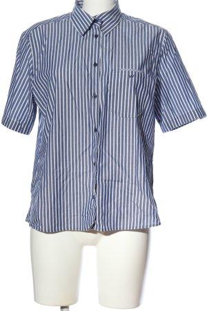 eterna excellent Chemise à manches courtes bleu-blanc motif rayé
