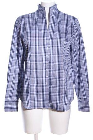 Eterna Hemd-Bluse blau-weiß Karomuster Casual-Look