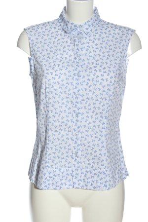 Eterna Hemd-Bluse weiß-blau abstraktes Muster Casual-Look
