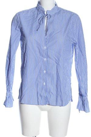 Eterna Hemd-Bluse blau-weiß Streifenmuster Casual-Look