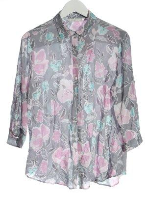 Eterna Camicia blusa grigio chiaro-rosa stampa integrale stile casual