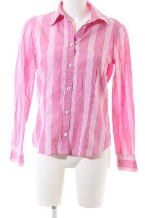 Eterna Hemd-Bluse pink-weiß Streifenmuster Casual-Look