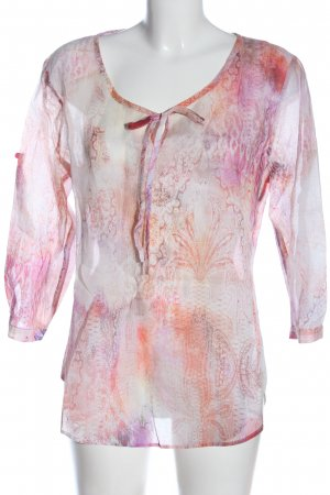 Eterna Camicia blusa rosa-grigio chiaro stampa integrale stile casual