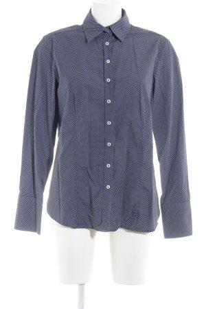 Eterna Hemd-Bluse dunkelblau-weiß Punktemuster Business-Look