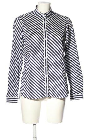 Eterna Hemd-Bluse weiß-schwarz Streifenmuster Casual-Look