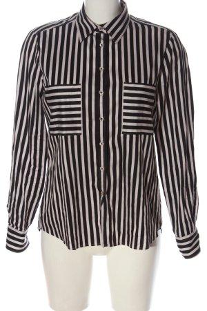 Eterna Blusa-camisa negro-blanco estampado repetido sobre toda la superficie