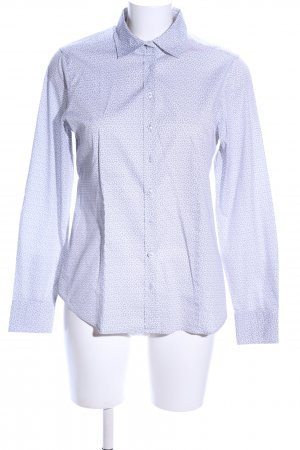 Eterna Hemd-Bluse blau Allover-Druck Casual-Look
