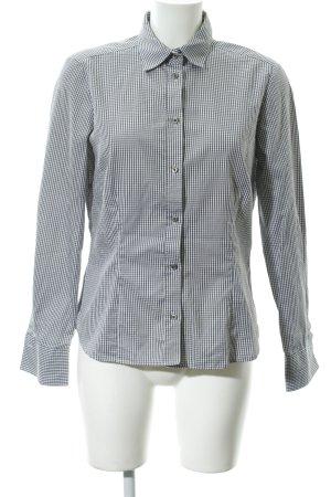 Eterna Hemd-Bluse grau-weiß Karomuster