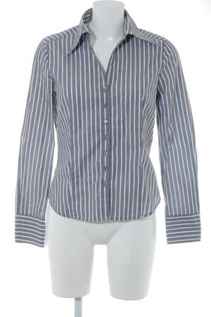 Eterna Hemd-Bluse grau-weiß Streifenmuster Business-Look