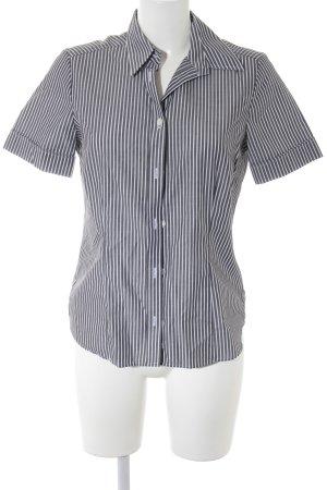 Eterna Hemd-Bluse grau-weiß Streifenmuster Casual-Look