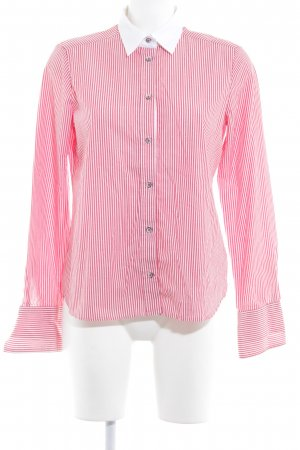 Eterna Hemd-Bluse hellrot-weiß Streifenmuster Business-Look
