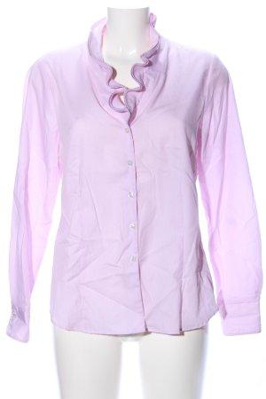 Eterna Hemd-Bluse lila Streifenmuster Business-Look