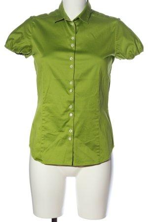 Eterna Kurzarm-Bluse grün Casual-Look
