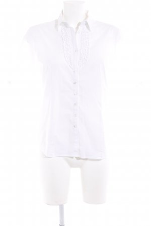 Eterna Kurzarm-Bluse weiß Elegant