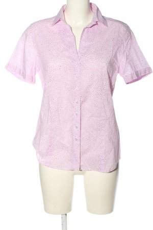 Eterna Short Sleeve Shirt pink-white allover print casual look