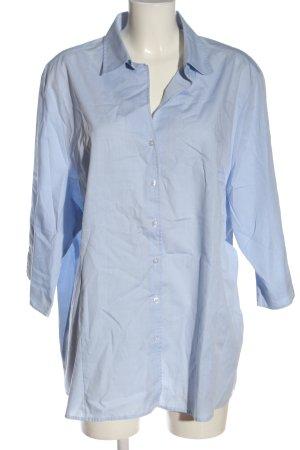 Eterna Camisa de manga corta azul look casual