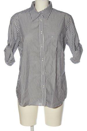 Eterna Kurzarmhemd schwarz-weiß Streifenmuster Business-Look