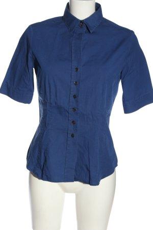 Eterna Kurzarmhemd blau Casual-Look