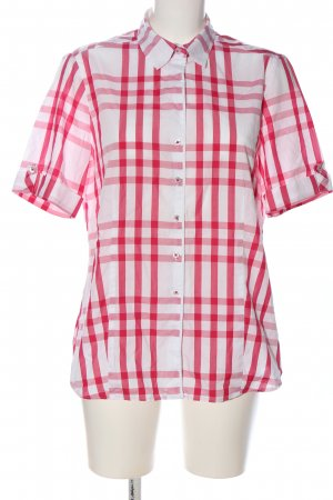 Eterna Kurzarmhemd pink-weiß Karomuster Casual-Look