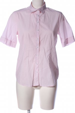 Eterna Kurzarmhemd pink-weiß Allover-Druck Casual-Look