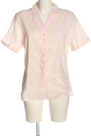 Eterna Kurzarmhemd nude-weiß Punktemuster Casual-Look