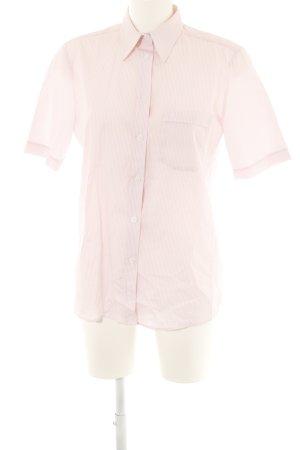 Eterna Kurzarmhemd hellrosa-weiß Streifenmuster Casual-Look