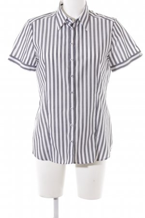Eterna Kurzarmhemd weiß-grau Business-Look