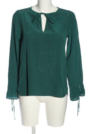 Eterna Langarm-Bluse grün Casual-Look
