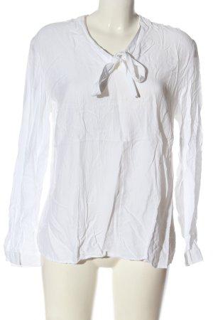 Eterna Blusa con lazo blanco estilo «business»