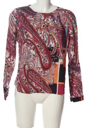 Eterna Langarm-Bluse abstraktes Muster Casual-Look