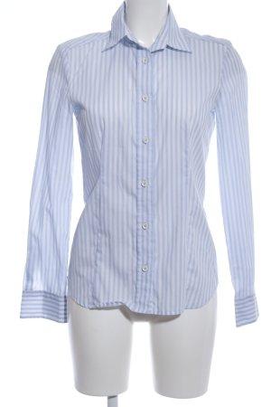 Eterna Langarm-Bluse blau-weiß Streifenmuster Business-Look