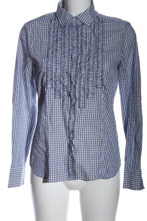 Eterna Langarmhemd blau-weiß Karomuster Casual-Look