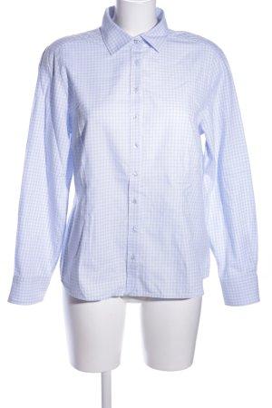 Eterna Langarmhemd blau-weiß Karomuster Business-Look