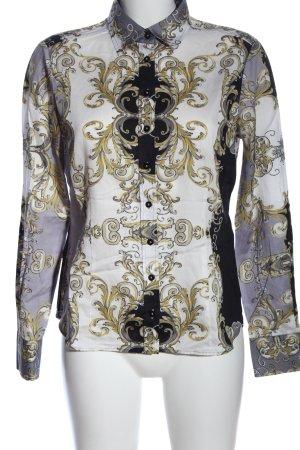 Eterna Langarmhemd abstraktes Muster Casual-Look