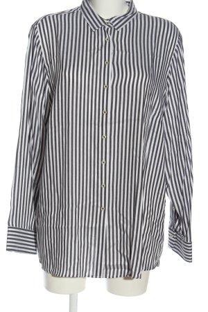 Eterna Langarmhemd weiß-schwarz Streifenmuster Casual-Look