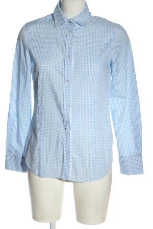 Eterna Camisa de manga larga azul-blanco estampado a cuadros estilo «business»