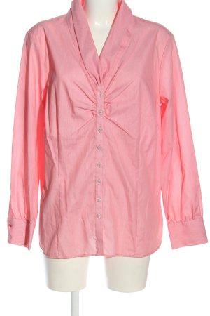Eterna Langarmhemd pink Streifenmuster Casual-Look