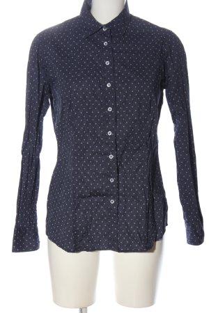 Eterna Langarmhemd blau-weiß Allover-Druck Business-Look