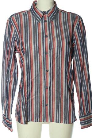Eterna Langarmhemd blau-rot Allover-Druck Elegant