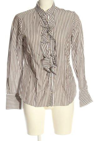 Eterna Camicia a maniche lunghe marrone-bianco motivo a righe elegante