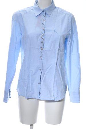 Eterna Langarmhemd blau Business-Look
