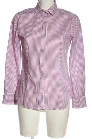 Eterna Camisa de manga larga rosa-blanco estampado a cuadros estilo «business»