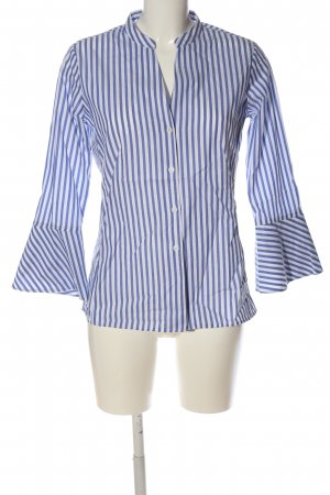 Eterna Langarmhemd weiß-blau Streifenmuster Business-Look