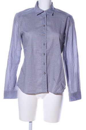 Eterna Langarmhemd blau Allover-Druck Business-Look
