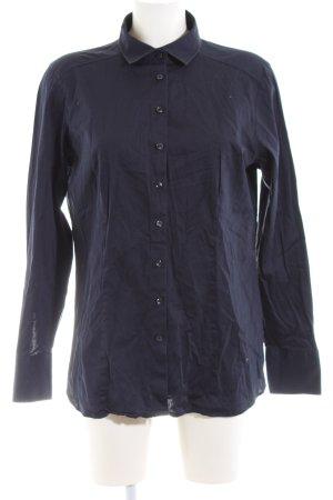 Eterna Shirt met lange mouwen blauw casual uitstraling