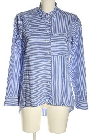 Eterna Langarmhemd blau-weiß Allover-Druck Casual-Look